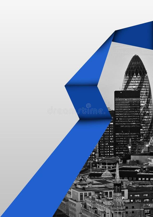 Projeto do folheto com cor azul fotos de stock royalty free