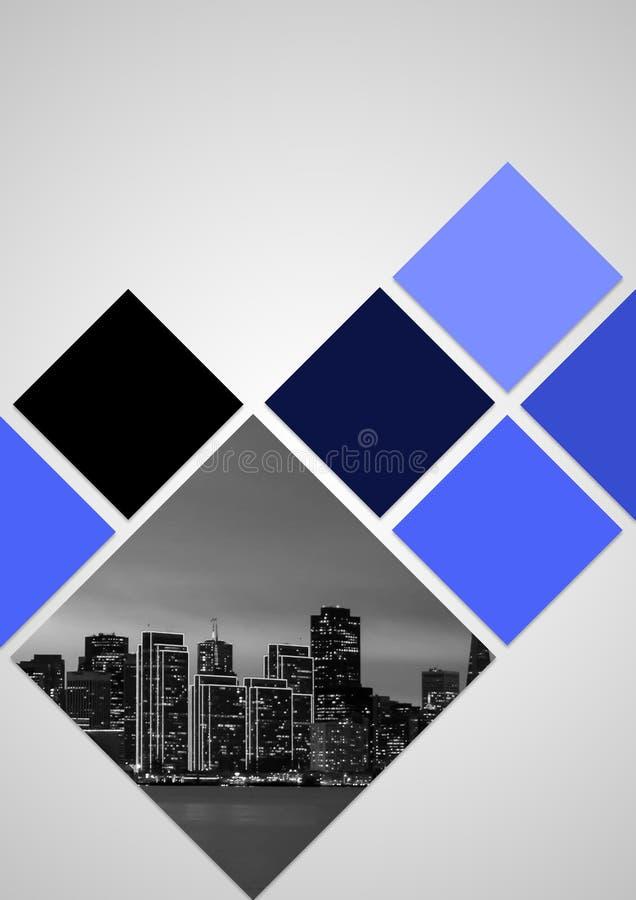 Projeto do folheto com cor azul fotografia de stock