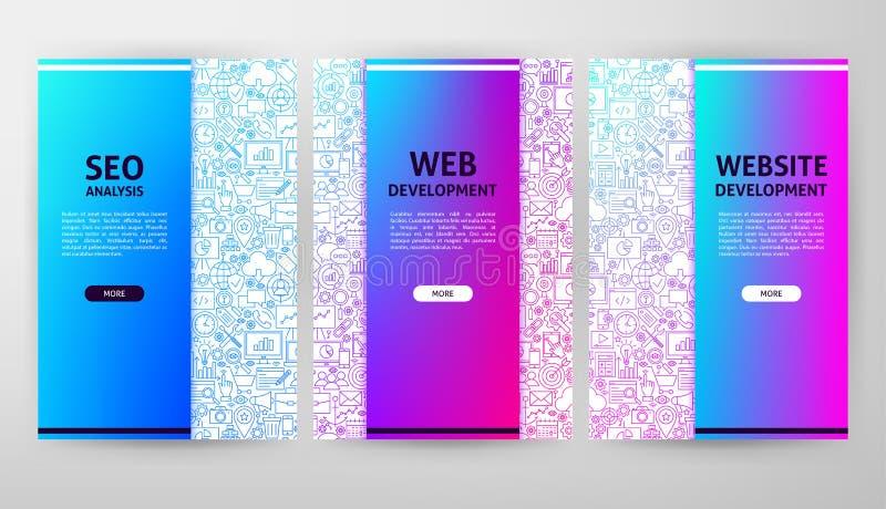 Projeto do folheto do desenvolvimento da Web ilustração royalty free