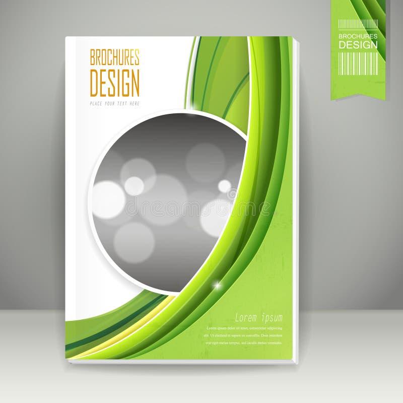Projeto do folheto do fundo do conceito da ecologia ilustração stock