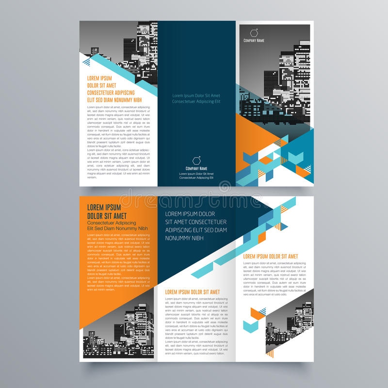 Projeto do folheto, molde do folheto ilustração stock