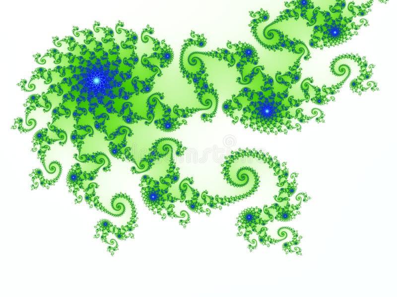 Projeto do Fractal baseado no jogo de Julia ilustração stock