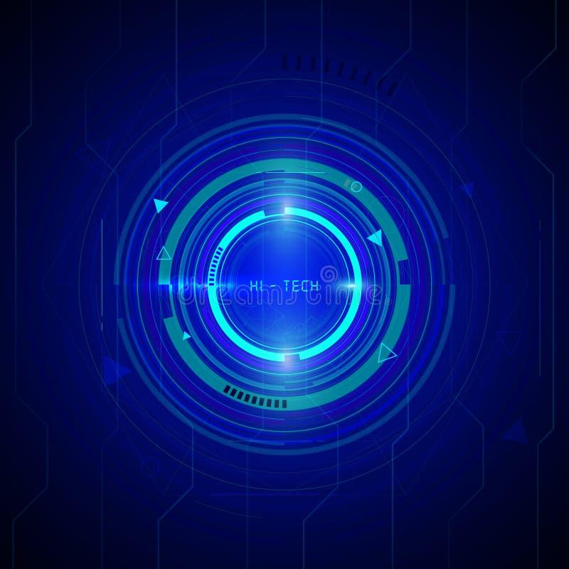 Projeto do fundo da tecnologia ilustração do vetor