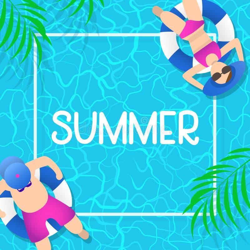 Projeto do fundo das horas de verão com água azul da associação fotos de stock