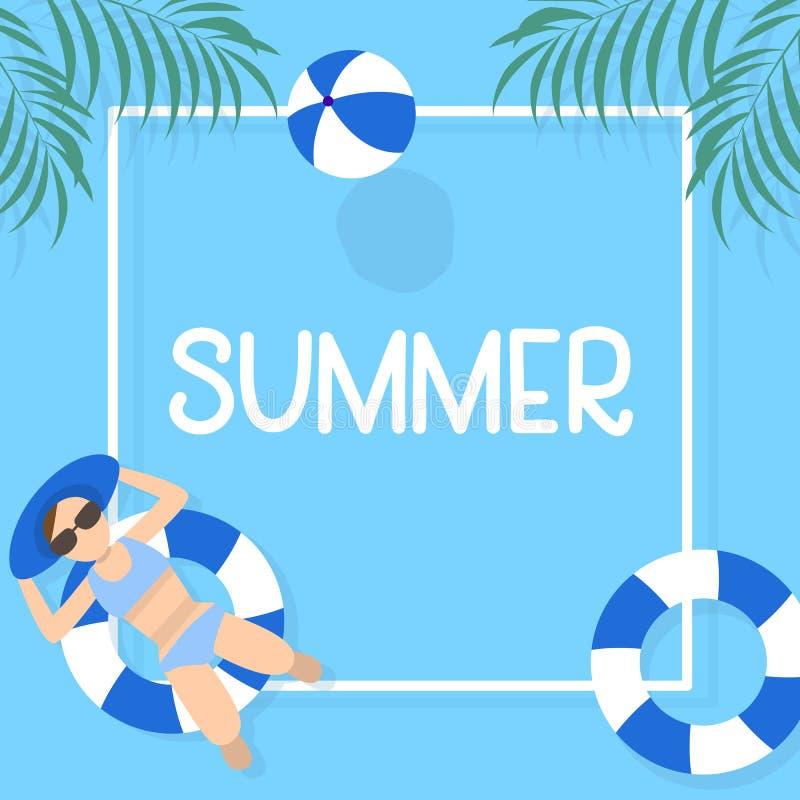 Projeto do fundo das horas de verão com água azul da associação imagens de stock