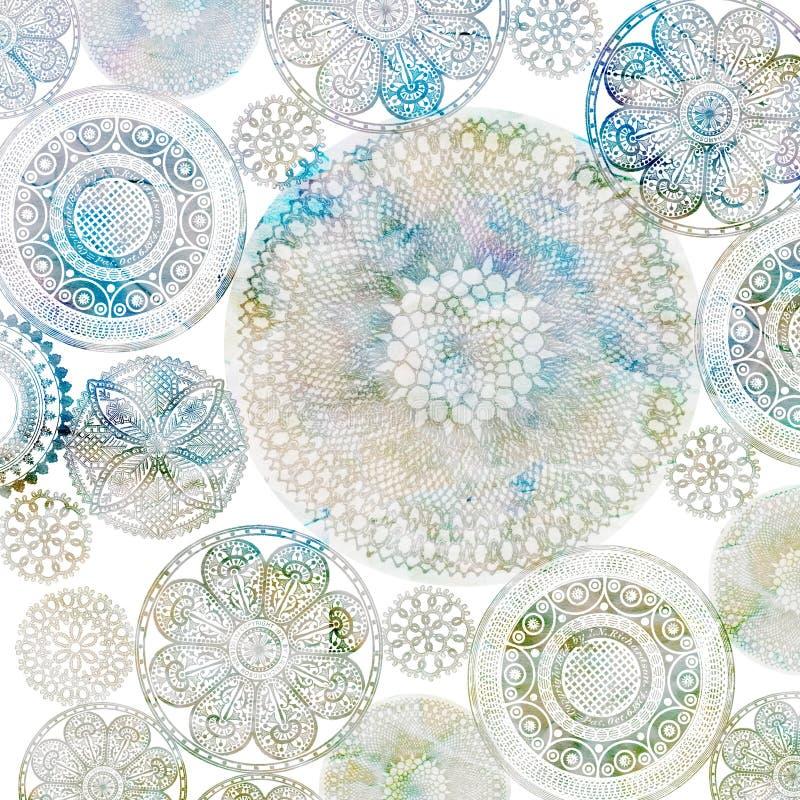 Projeto do fundo de Doiley do Crochet imagens de stock royalty free