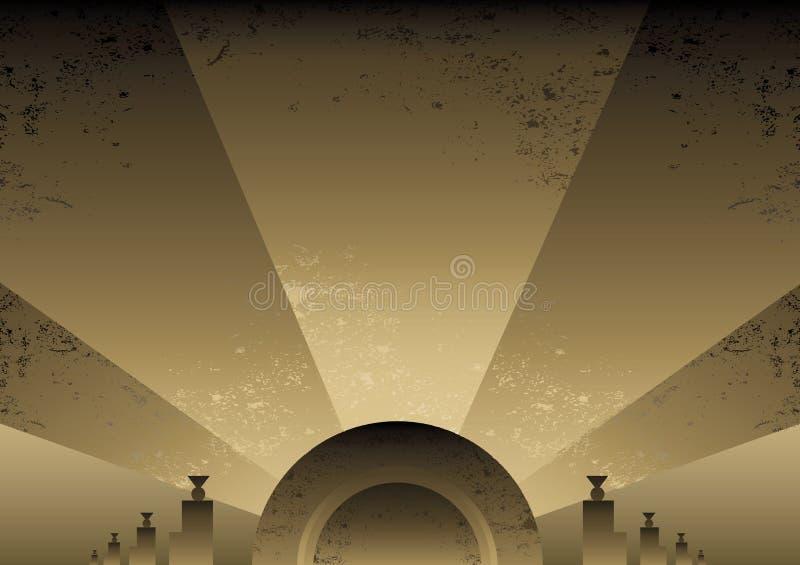 Projeto do fundo do estilo do futurista do art deco ilustração royalty free