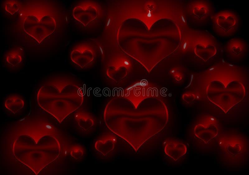 Projeto do fundo dos corações de sangramento ilustração do vetor