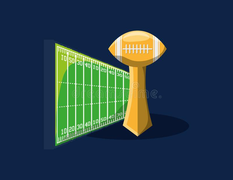Projeto do futebol americano ilustração stock