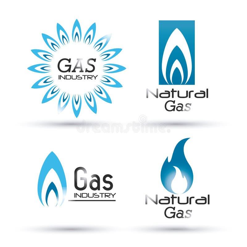 Projeto do gás natural ilustração stock