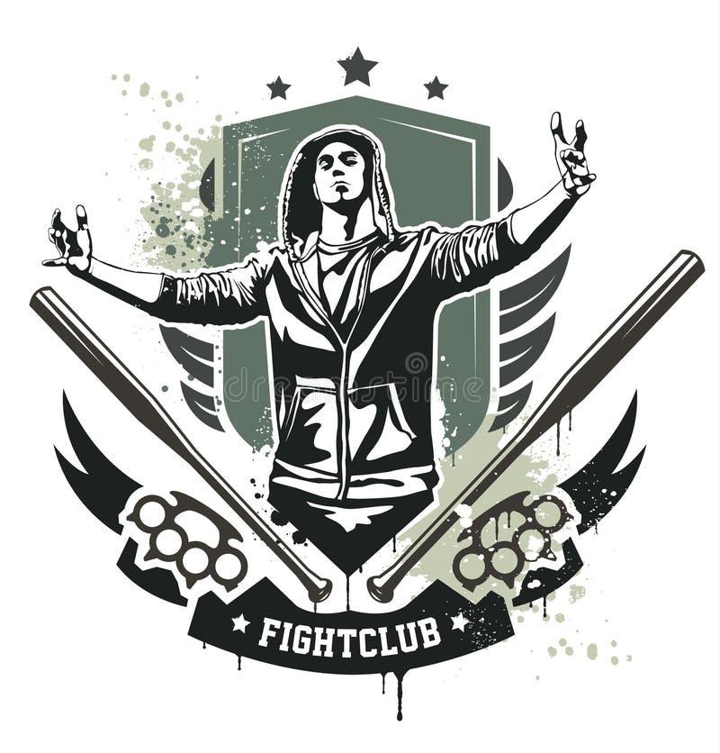 Projeto do grupo de Grunge ilustração royalty free