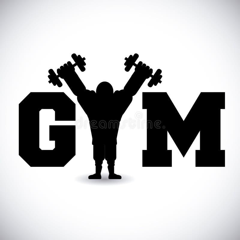 Projeto do Gym ilustração do vetor