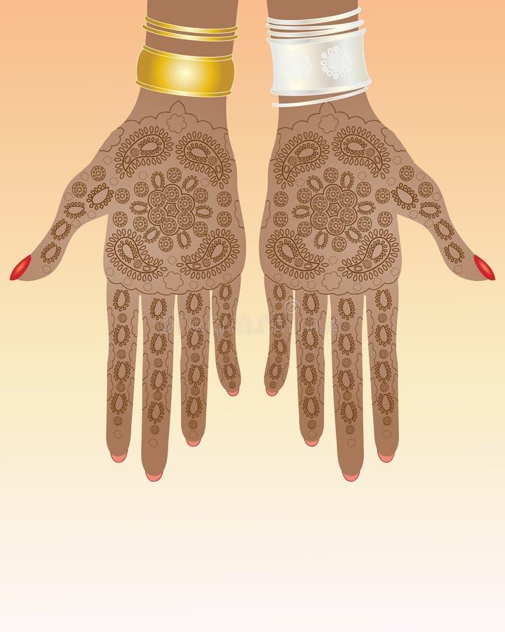 Projeto do Henna ilustração stock