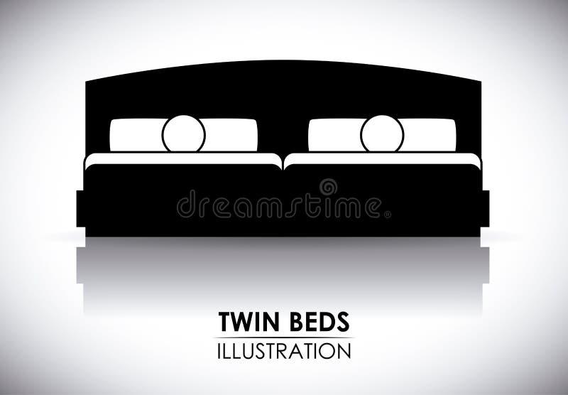 Projeto do hotel ilustração royalty free