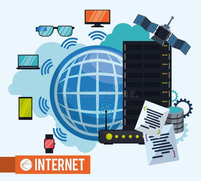Projeto do Internet ilustração do vetor
