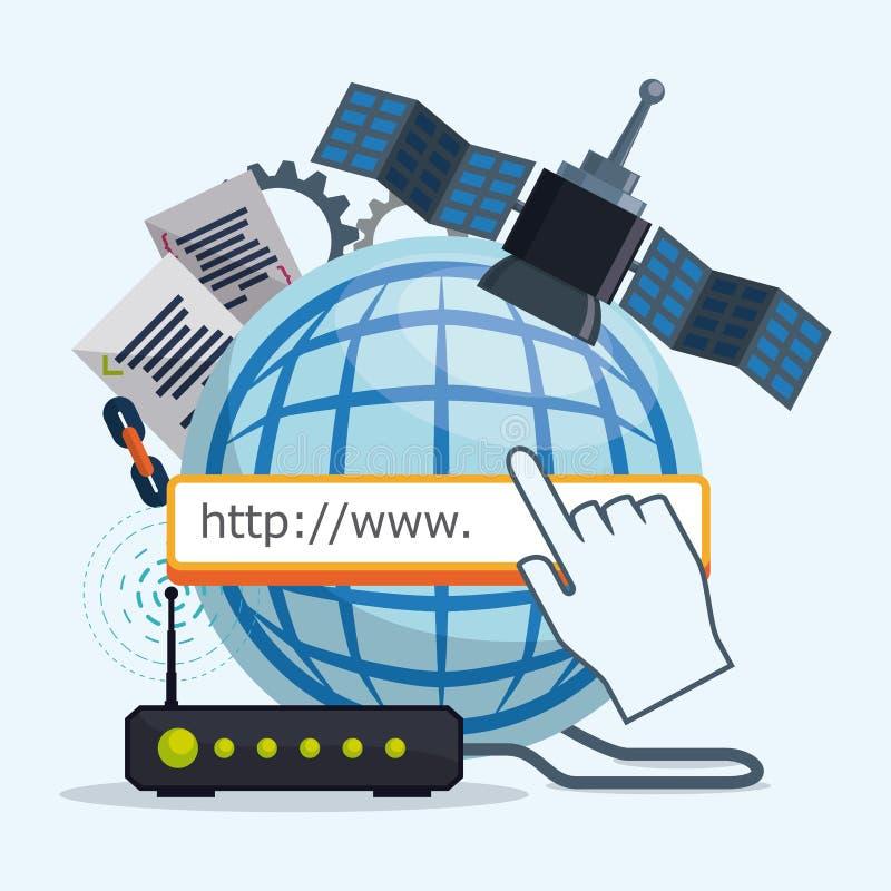 Projeto do Internet ilustração stock