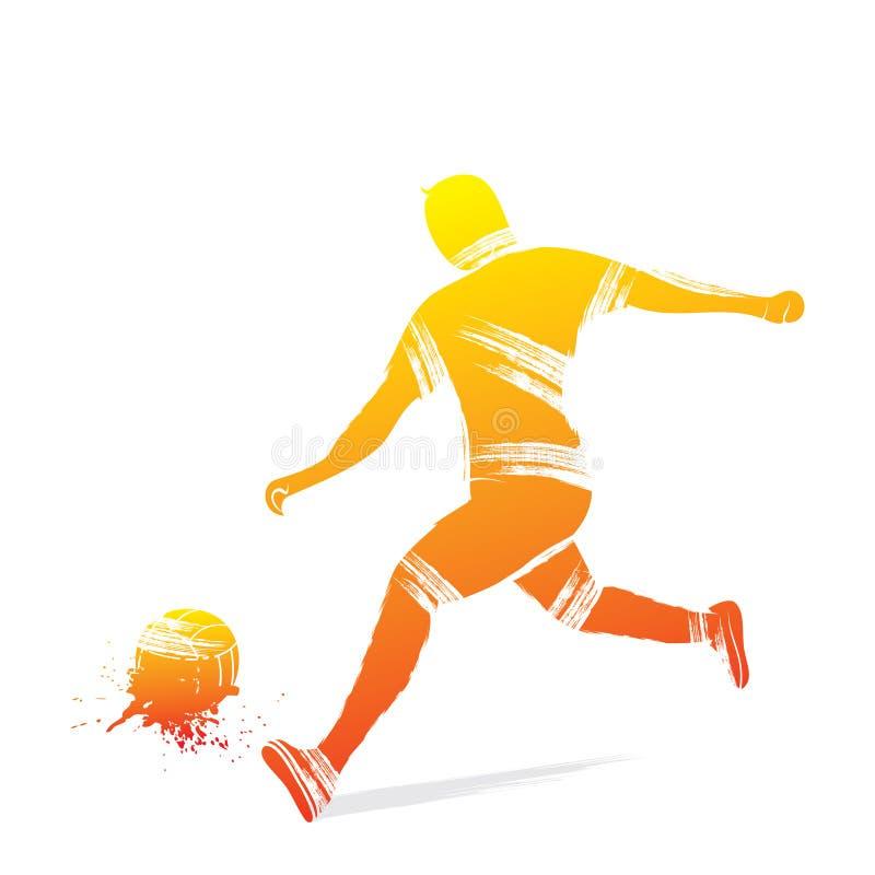 Projeto do jogador de futebol ilustração stock