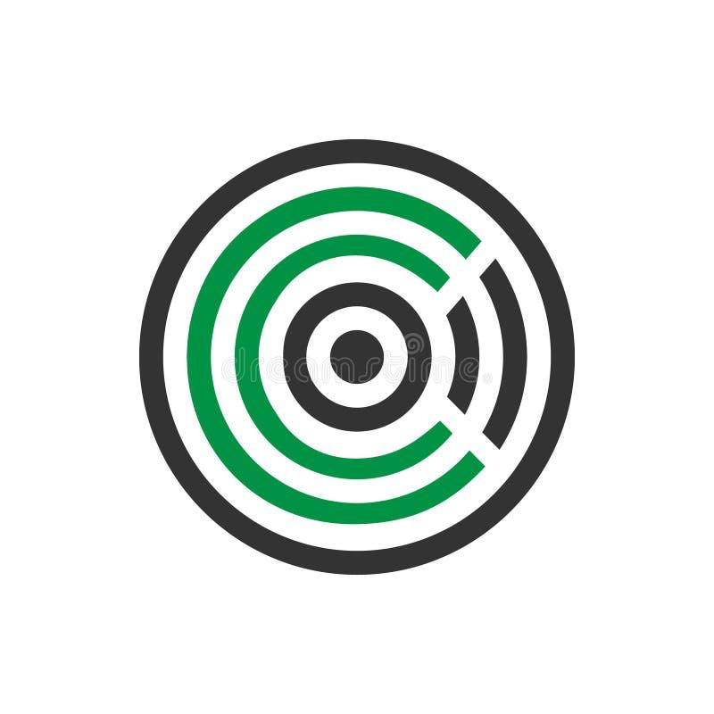Projeto do logotipo do ícone da letra c do mosquito do sumário da ilustração do vetor ilustração do vetor