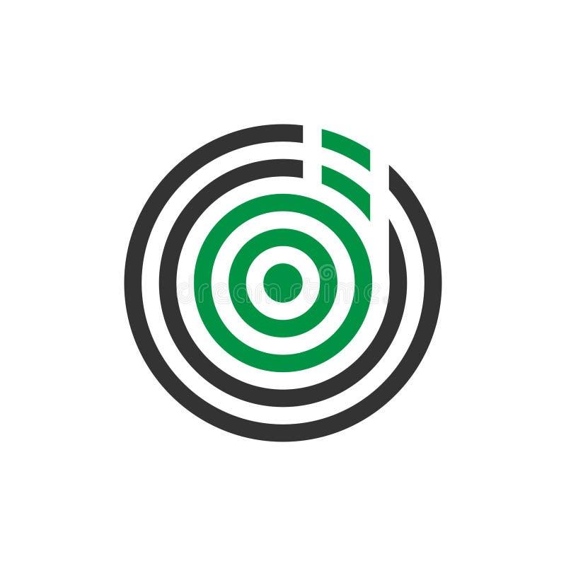 Projeto do logotipo do ícone da letra d do mosquito do sumário da ilustração do vetor ilustração royalty free