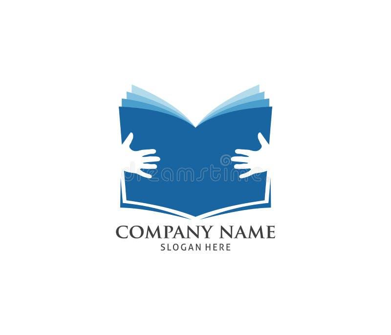 projeto do logotipo do ícone do livro de leitura do menino do totó ilustração do vetor