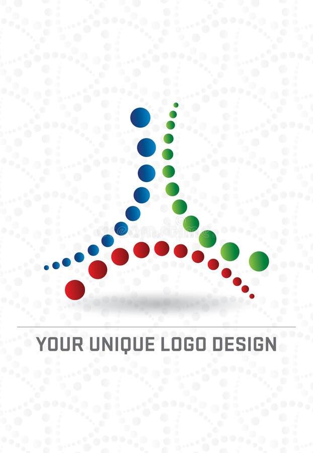 Projeto do logotipo ilustração stock