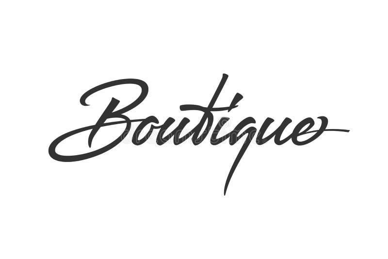 Projeto do logotipo do boutique ilustração royalty free