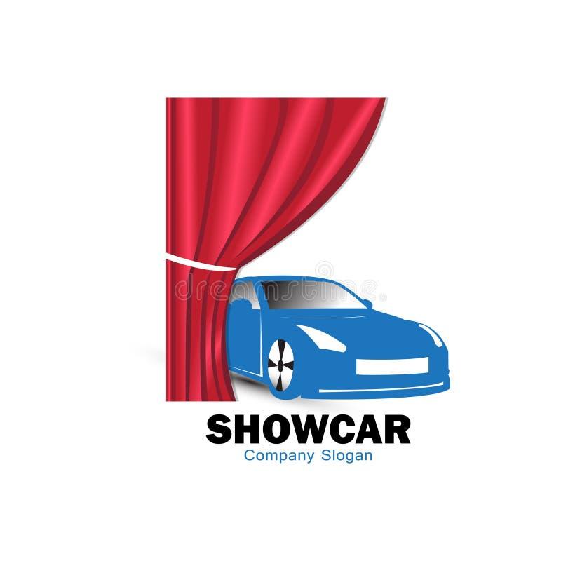 Projeto do logotipo do carro da mostra para lançar o modelo novo do carro ilustração royalty free