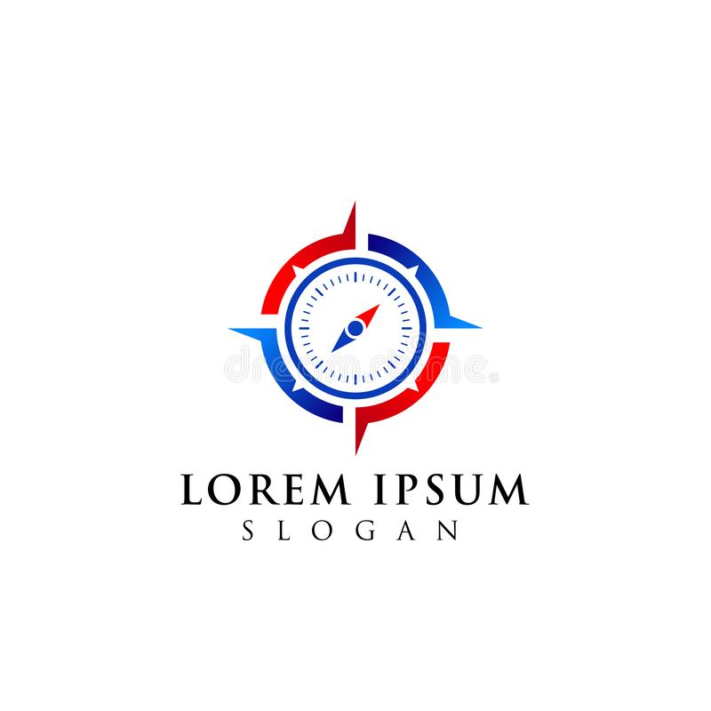 Projeto do logotipo do compasso projeto do símbolo do ícone da navegação ilustração do vetor