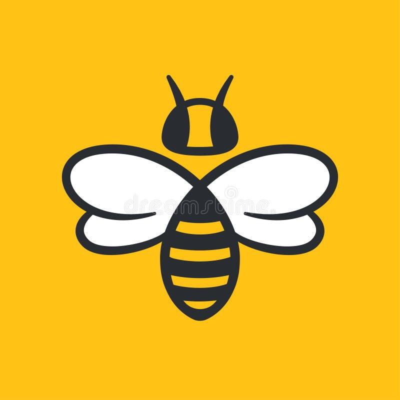 Projeto do logotipo da abelha ilustração stock
