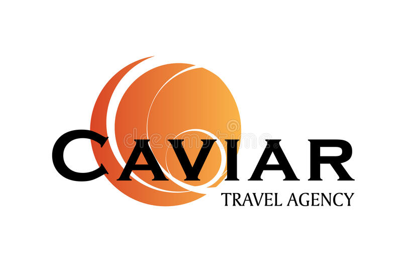 Projeto do logotipo da agência de viagens ilustração royalty free