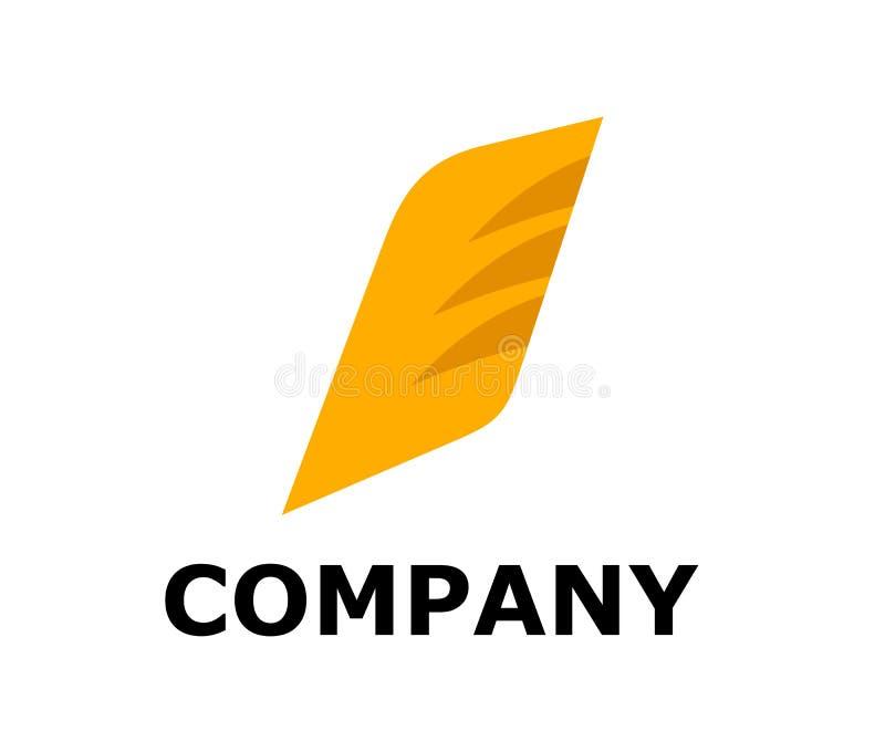 Projeto do logotipo da aleta ilustração royalty free