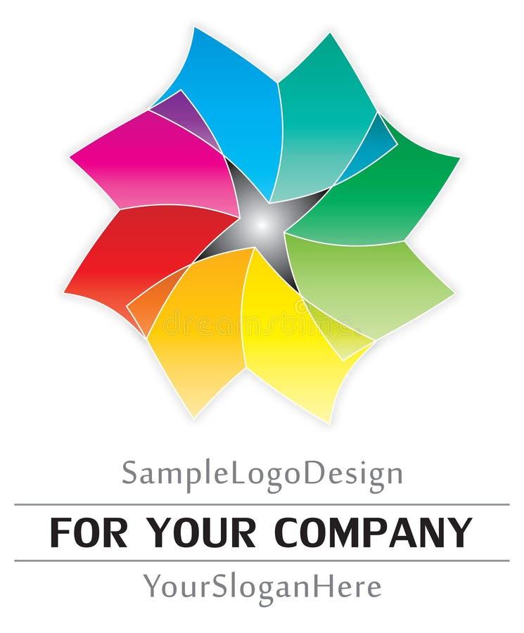Projeto do logotipo da amostra ilustração do vetor