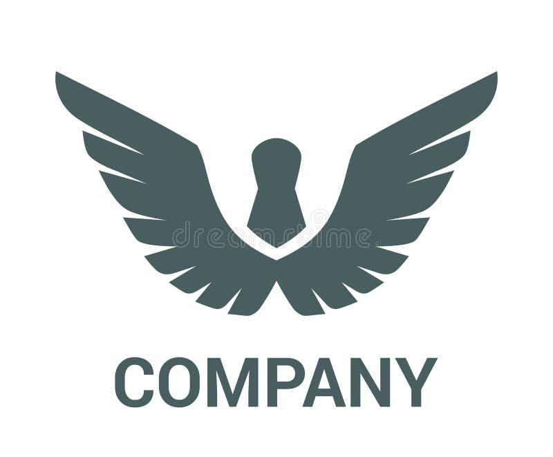 Projeto 1 do logotipo da asa ilustração stock