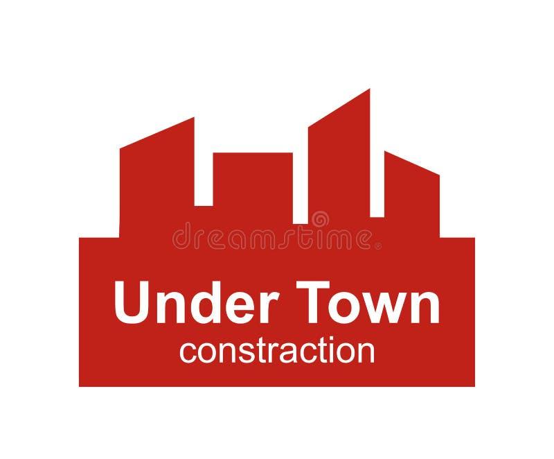 Projeto do logotipo da cidade ilustração do vetor