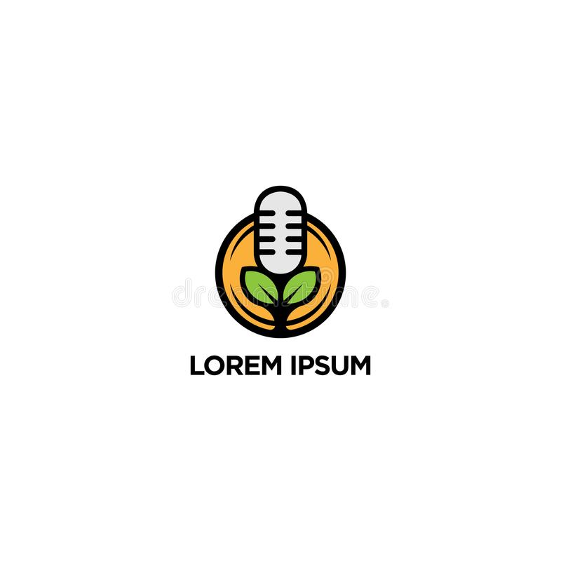 Projeto do logotipo da clínica da música, do molde do logotipo do vetor, o exclusivo, o moderno e o original ilustração royalty free