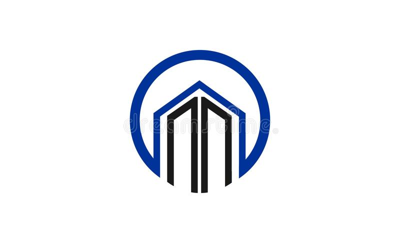 Projeto do logotipo da construção ilustração do vetor
