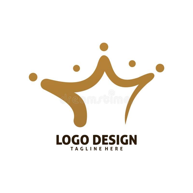 Projeto do logotipo da coroa ilustração royalty free