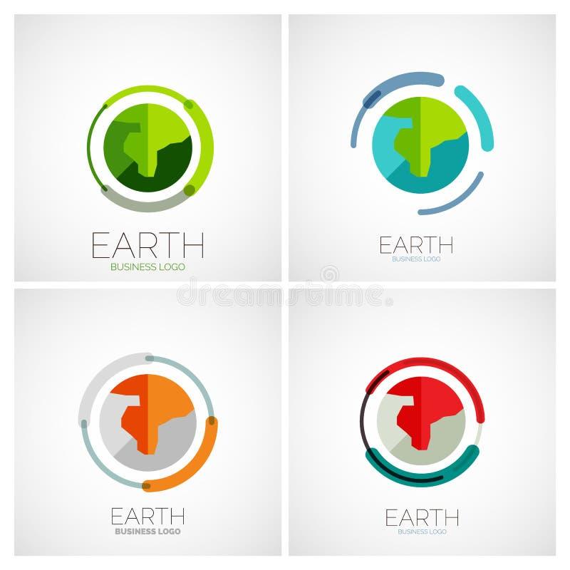 Projeto do logotipo da empresa da terra ilustração stock
