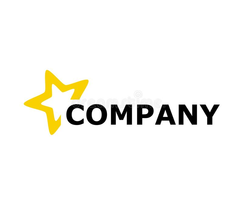Projeto 1 do logotipo da estrela ilustração do vetor