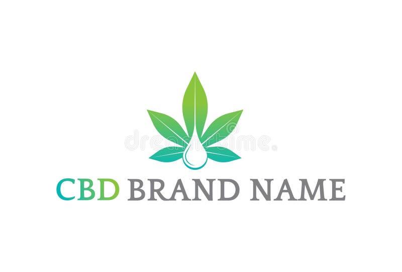 Projeto do logotipo da folha da marijuana do vetor ilustração do vetor