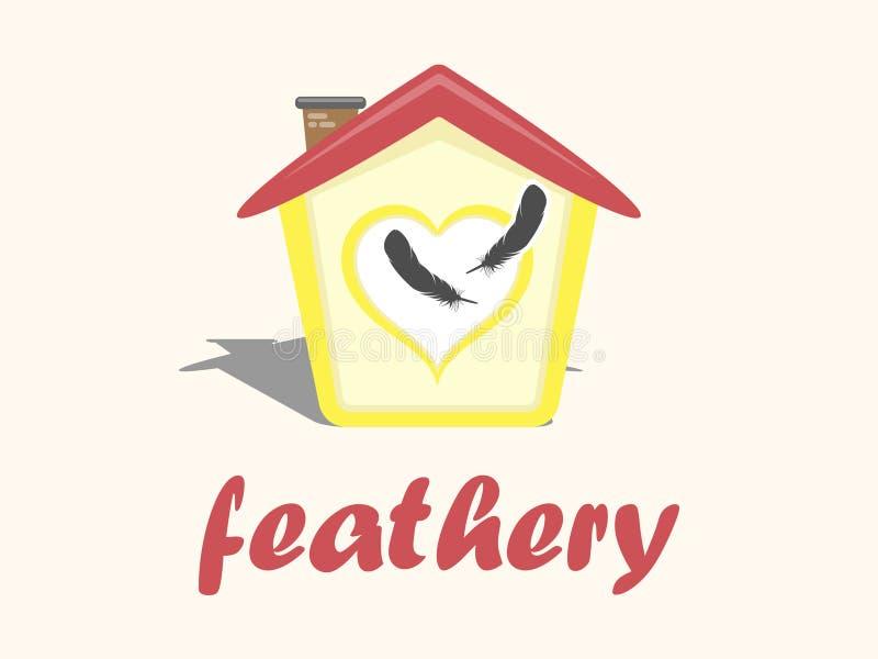 Projeto do logotipo da loja de animais de estimação para o shopping do pássaro e do papagaio fotografia de stock