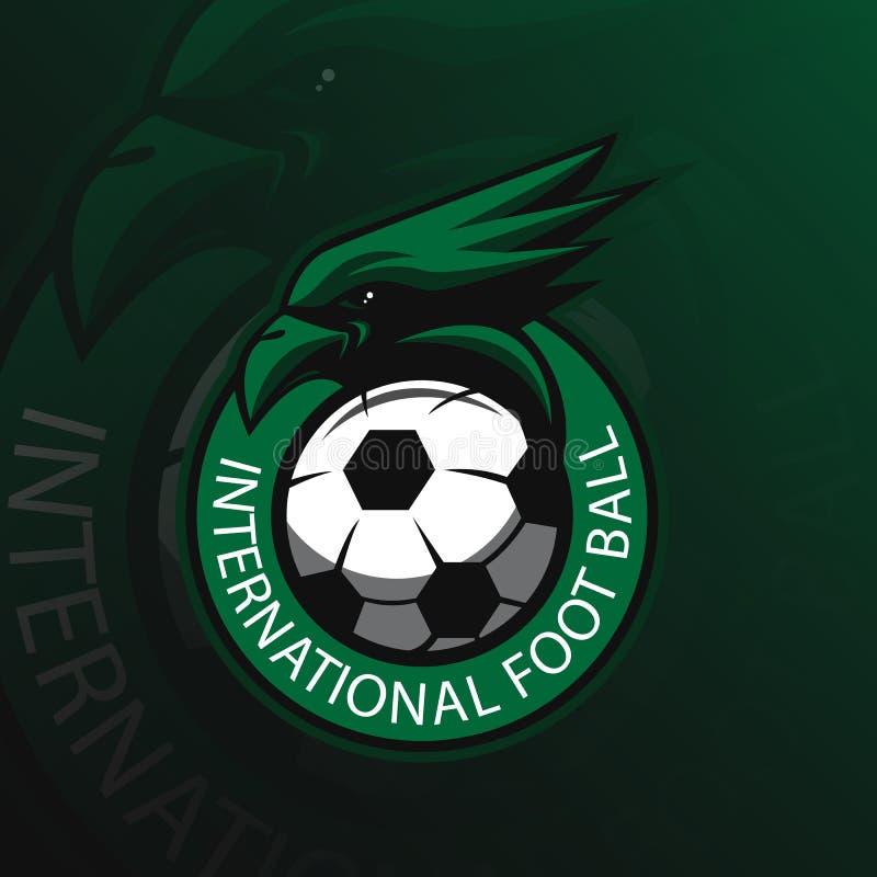 Projeto do logotipo da mascote do vetor de Eagle com estilo moderno do conceito da ilustração para a impressão do crachá, do embl ilustração stock