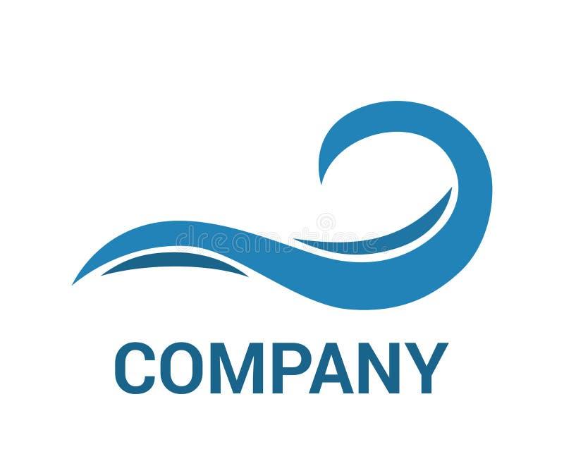 Projeto 2 do logotipo da onda ilustração stock