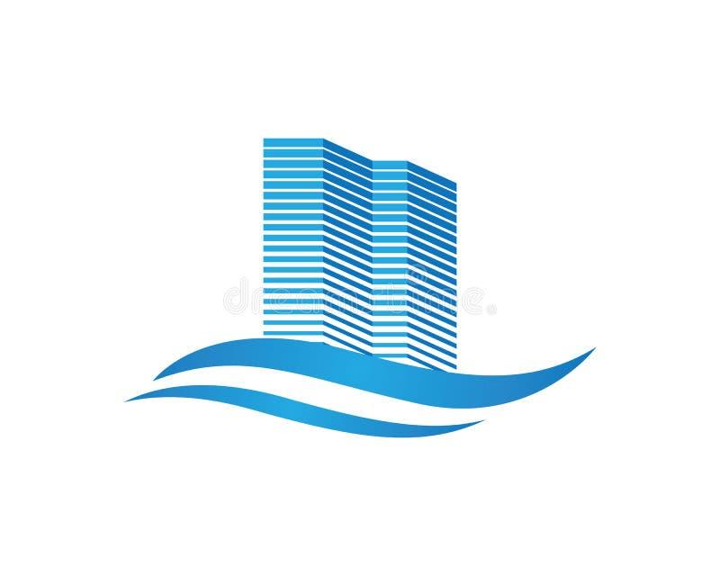 Projeto do logotipo da propriedade e da construção ilustração do vetor