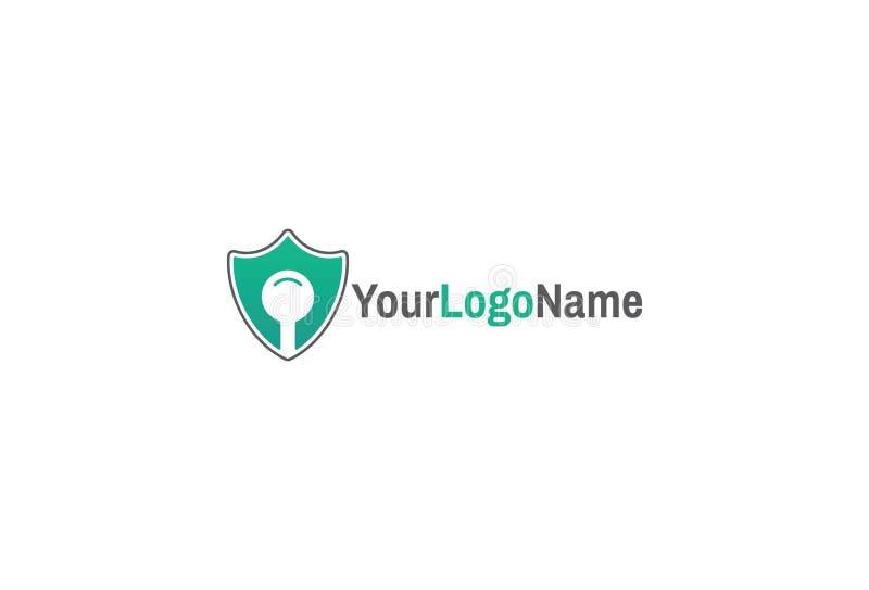 Projeto do logotipo da segurança do ícone do protetor ilustração royalty free