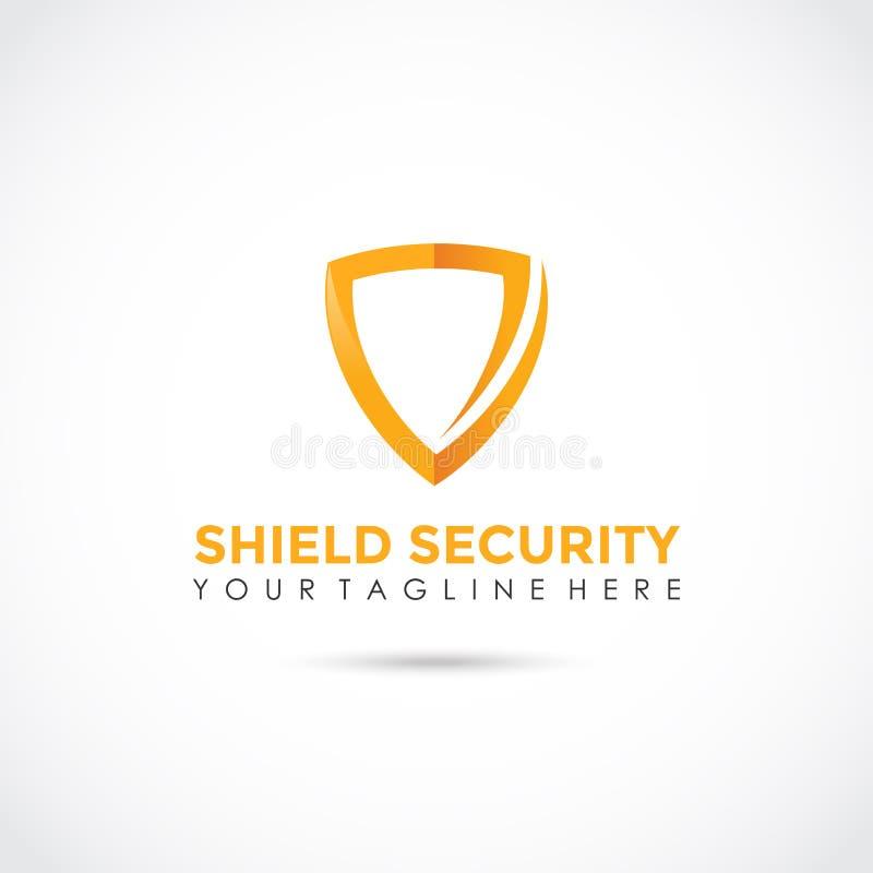 Projeto do logotipo da segurança do protetor Ilustrador EPS do vetor 10 ilustração stock