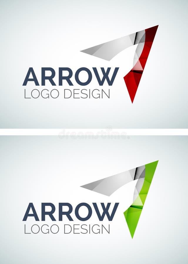 Projeto do logotipo da seta feito de partes da cor ilustração do vetor