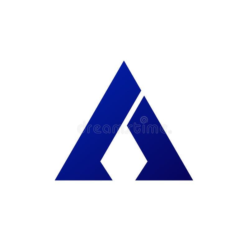 Projeto do logotipo da seta do triângulo ilustração royalty free