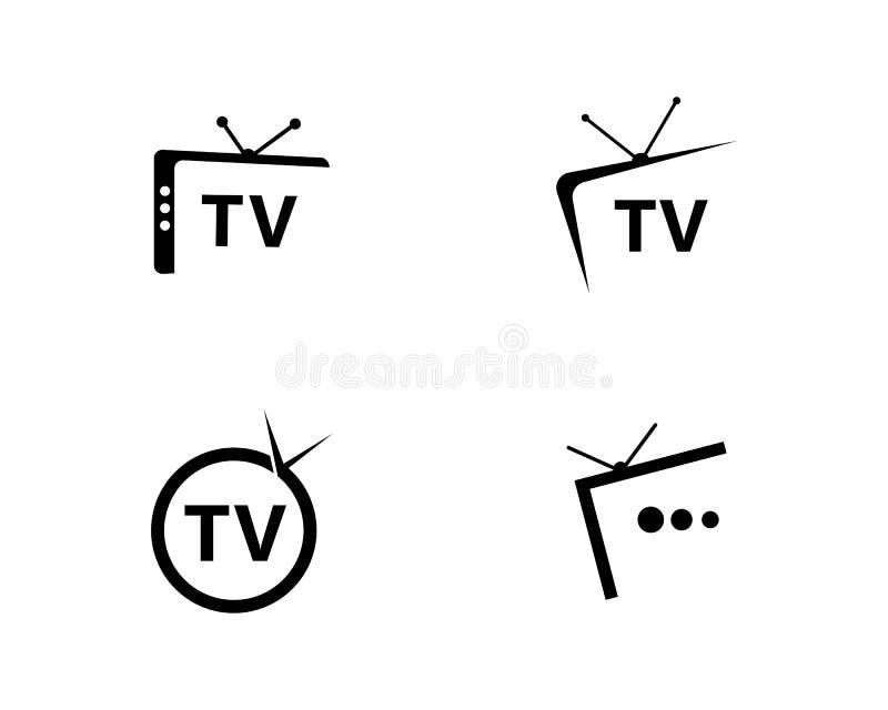 Projeto do logotipo da tevê ilustração do vetor