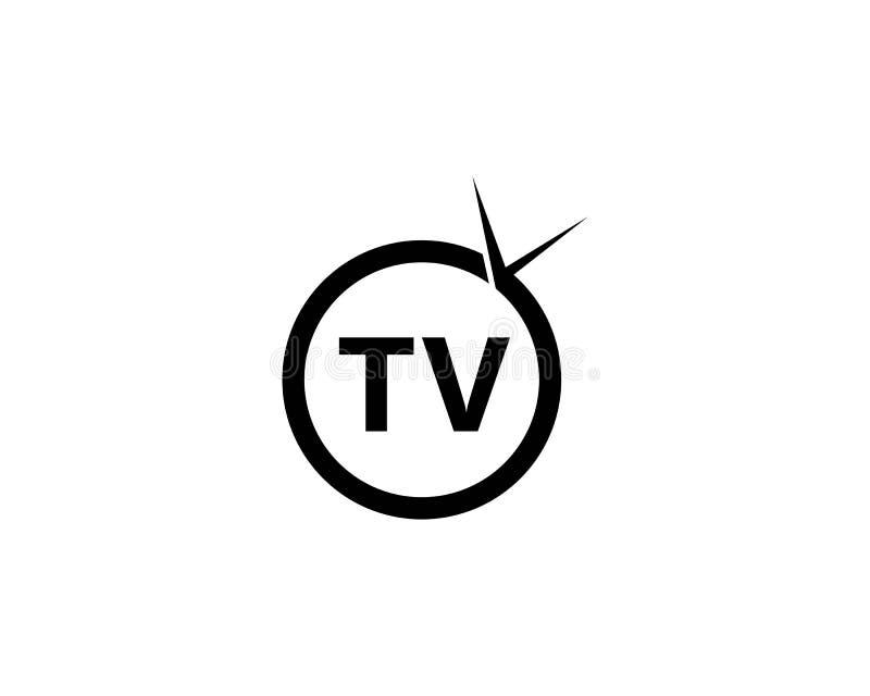 Projeto do logotipo da tevê ilustração royalty free